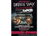 2 x greenday tickets bellahouston park 4th july