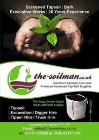 Compost - Sand - Stone - Topsoil - Bark