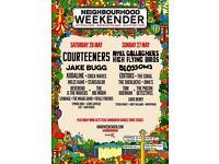 Neighbourhood weekender full weekend ticket