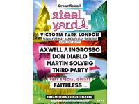 Creamfields Presents Steel Yard London Sunday 28 May Ticket - Axwell Ingrosso, Don Diablo, Faithless