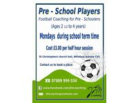 Pre-School Players Football Coaching