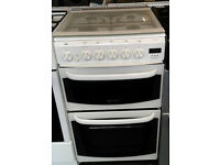 l160 white cannon 50cm gas cooker comes with warranty can be delivered or collected