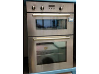 V183 stainless steel electrolux double integrated electric oven comes with warranty can be delivered