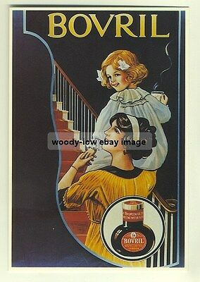 ad2404 - Bovril Girls Bedtime - modern poster advert postcard