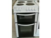 a142 white bush 50cm solid ring electric cooker comes with warranty can be delivered or collected