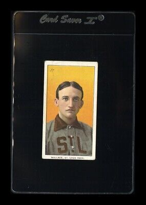 1909-11 T206 Bobby Wallace Sweet Caporal 150 (# 30) VG-VGEX (crease) *GMCARDS*