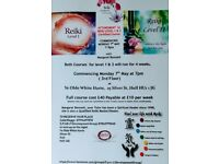 Reiki Healing level 1 & 2 four week course