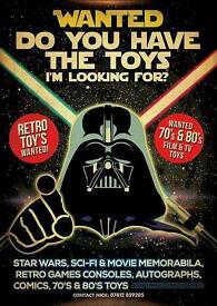 Wanted star wars sci fi movie memorabilia retro toys snes sega etc