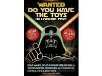 Wanted toy memorabilia star wars vintage retro etc