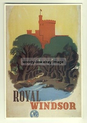 ad2560 - Great Western Railway - Royal Windsor - modern poster advert postcard
