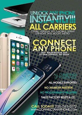 CSPIRE APPLE IPHONE  UNLOCKING SIM