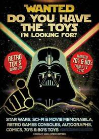 Wanted star wars retro games vintage toys 80's toys film memorabilia anything considered