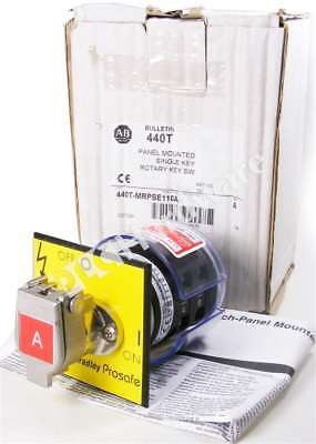 New Allen Bradley 440t-mrpse110a A Rotary Switch Panel Mounted 2no 2nc 20a
