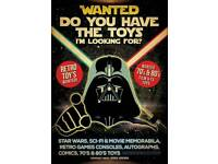 Wanted star wars 70's and 80s retro toys actionman etc