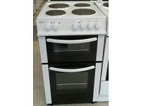f142 white bush 50cm electric cooker comes with warranty can be delivered or collected