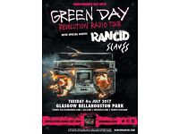 2x Green Day + Rancid + Slaves + The Skids Tickets @ Bellahouston Park (Below Face Value)