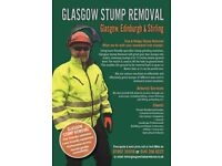Tree Stumps Professionally Removed, Glasgow and Central Scotland. Call or text for a free quote.