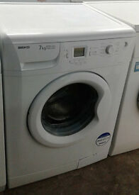 C023 white beko 7kg 1400spin A+A rated washing machine comes with warranty can be delivered