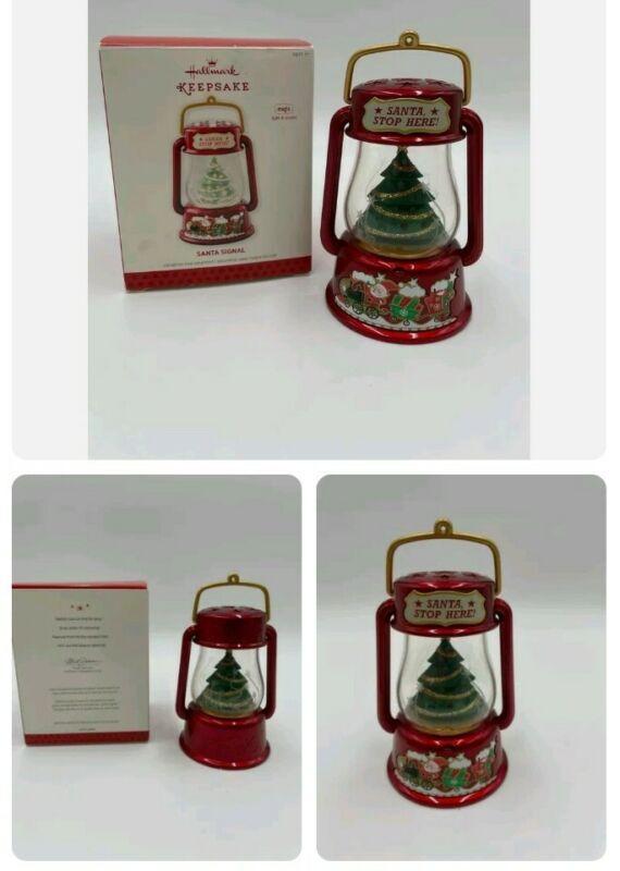 2013 Hallmark Keepsake Ornament Santa Signal - Light & Sound - Works Great!