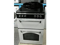 a207 white leisure 60cm double oven ceramic hob electric cooker comes with warranty can be delivered