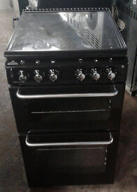 E159 black new world 50cm gas cooker comes with warranty can be delivered or collected