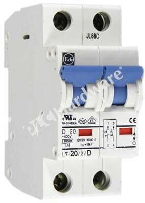 Cerus Mini Circuit Breaker 2 Pole 40 Amp Din Rail Mountable NEW