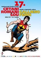 Gallieno Ferri - Zagor - Manifesto 17 . Crtani Romani Šou 2014 -  - ebay.it