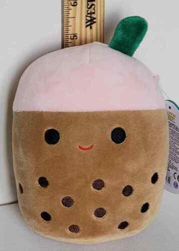 "Squishmallow 5"" Bernice Boba Tea Soft Spotted Plush BNWT FREE SHIP 734689252428"