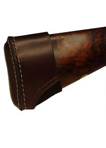 Bisley slip on leather recoil pad - rifle and shotgun extension