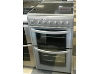 b631 silver hotpoint 50cm double oven ceramic electric cooker with warranty can be delivered or coll