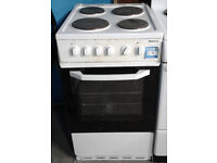 E050 white beko 50cm solid ring electric cooker comes with warranty can be delivered or collected