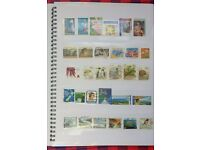 Stamp album packed with stamps+mixed bag of stamps (estimated 500+ in total)-please see photos!
