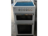 a498 white flavel 50cm ceramic hob electric cooker comes with warranty can be delivered or collected