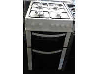 E553 white logik 50cm gas cooker comes with warranty can be delivered or collected