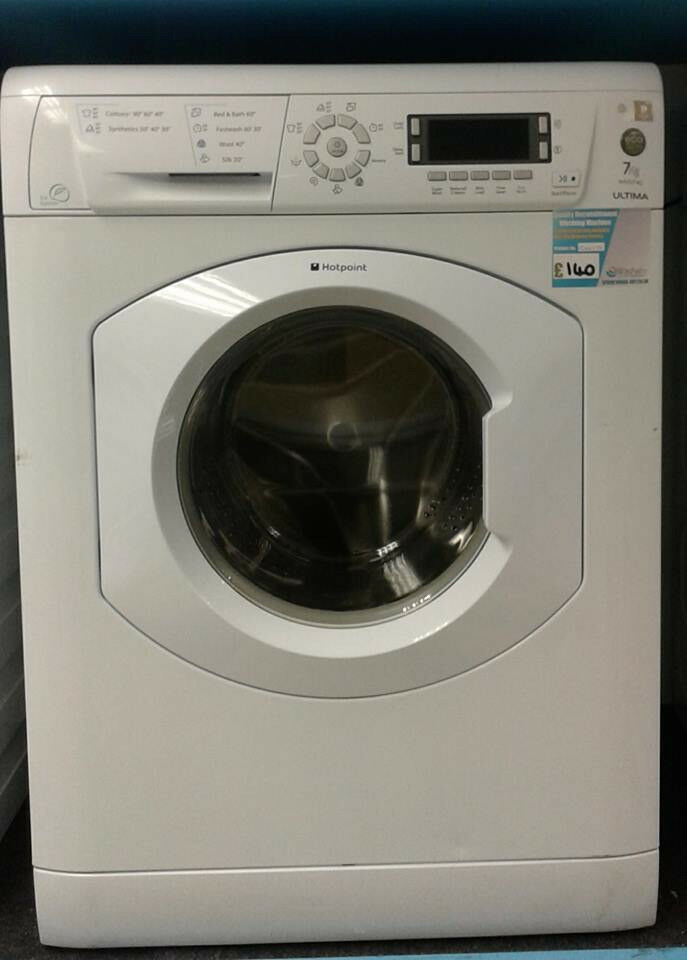 H619 white hotpoint 7kg 1400spin washing machine comes with warranty can be delivered or collected
