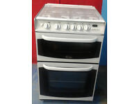 n320 white cannon 55cm double oven gas cooker comes with warranty can be delivered or collected
