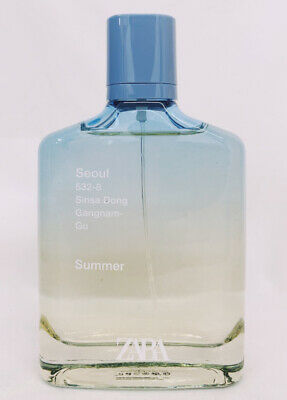 ZARA SEOUL SINSA DONG SUMMER for MEN * 3.4 oz (100ml) EDT Spray * NEW & UNBOXED