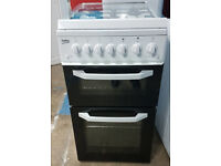 y509 white beko 50cm gas cooker comes with warranty can be delivered or collected