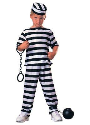 Jungen Kind Komplette Gefangene Prison Junge Kostüm - Gefangenen Outfit