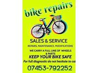 Bike sales repairs and service 07453792252