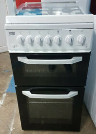 n509 white beko 50cm gas cooker comes with warranty can be delivered or collected