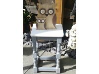 SHABBY CHIC VINTAGE STYLE SMALL SIDE LAMP TABLE