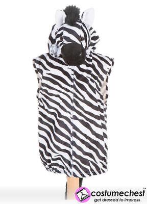 Childrens Girls Boys Zebra Zip Costume Top by Pretend To Bee