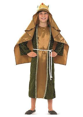 Jungen Mädchen Kinder Gold Weiser Mann Geburt Weihnachtskostüm Outfit