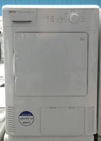 b368 white beko 6kg condenser dryer comes with warranty can be delivered or collected