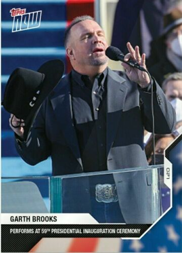 2020 Topps Now USA Election #19 Garth Brooks Performs Inauguration - In Hand!