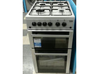 Z299 silver beko 50cm double oven gas cooker new with manufacturers warranty can be delivered