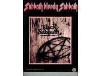 black sabbath bloody sabbath guitar, bass, vocal songbook sheet music 1974 tab ozzy
