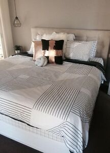 Upholstered king size bed head Pakenham Cardinia Area Preview