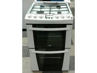 l346 white zanussi 55cm double oven gas cooker comes with warranty can be delivered or collected
